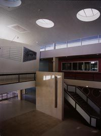 The vaulted atrium space