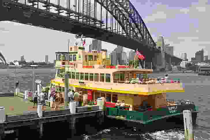 Milsons Point Ferry Wharf in November 2008.