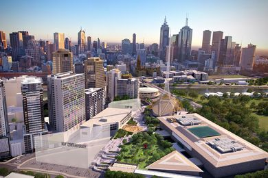 The proposed redevelopment of Melbourne's Southbank arts precinct.