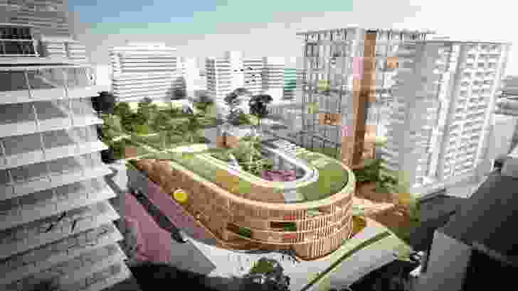 The proposed Parramatta Public School designed by Grimshaw and BVN.