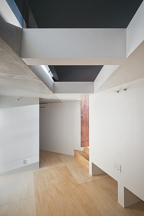 Each part of the house features odd angles and irregular spaces.