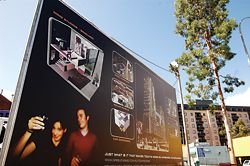 Gresley Abas Architects' billboard on St Georges Terrace, a satire of development hoardings.
