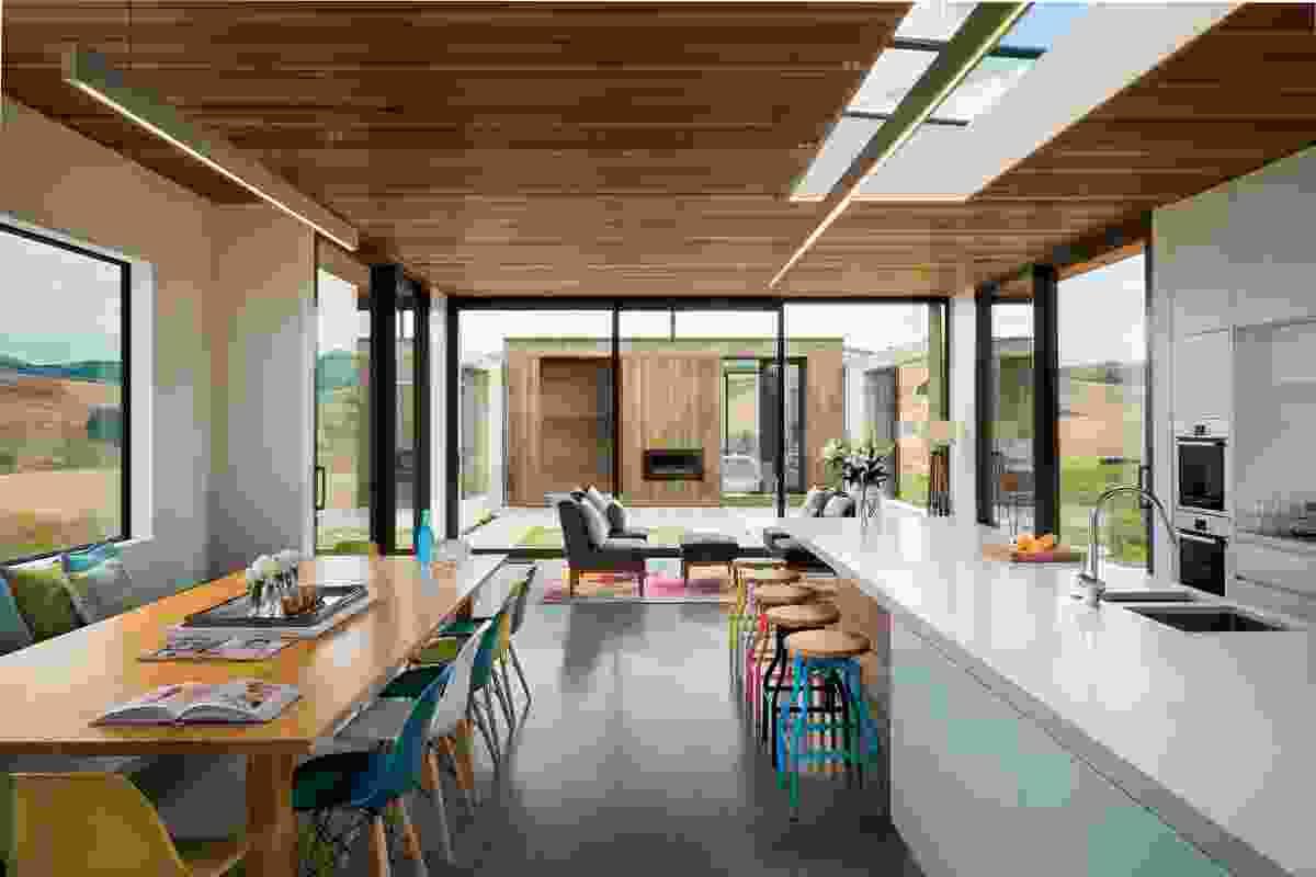 Sliding House, Canterbury Plains by Dalman Architecture.
