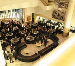 The High Court of Australia as dining room.