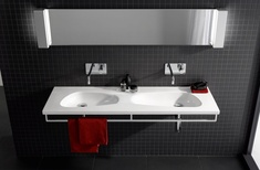 Laufen's new Palomba double washbasin