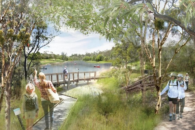 "The Oxley Creek draft masterplan would see the 15-kilometre waterway between Brisbane River and Larapinta reimagined as both a sanctuary for wildlife and an ""urban playground."""
