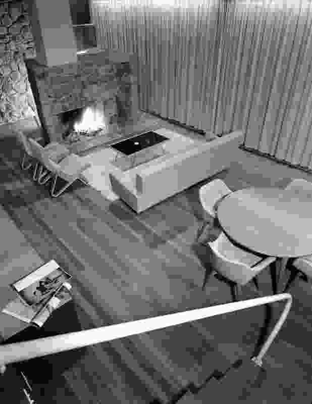 Bowden House by Harry Seidler (1954) has a split level arrangement.