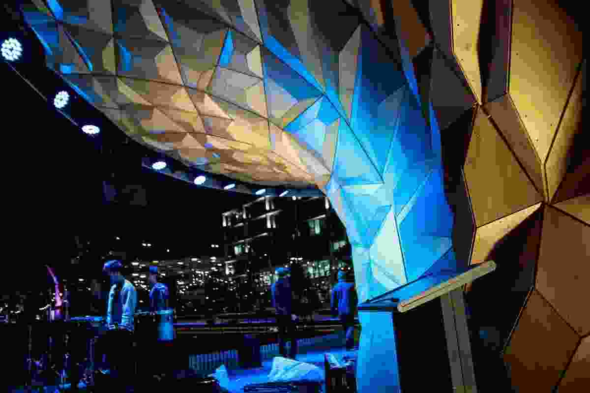 The soundshell is a multi-purpose, year-round performance space for Monash University's Caulfield campus.