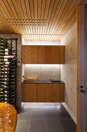 Wet bar and cellar.