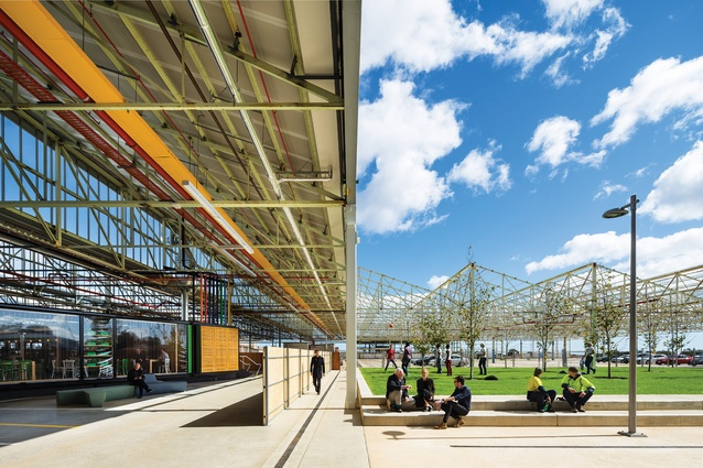 Tonsley Main Assembly Building and Pods by Woods Bagot and Tridente Architects  was the winner of the David Oppenheim Award for Sustainable Architecture at the 2016 National Architecture Awards.