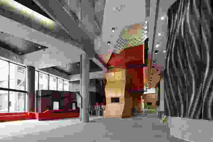The interior of the Melbourne Brain Centre, Parkville, by Lyons.