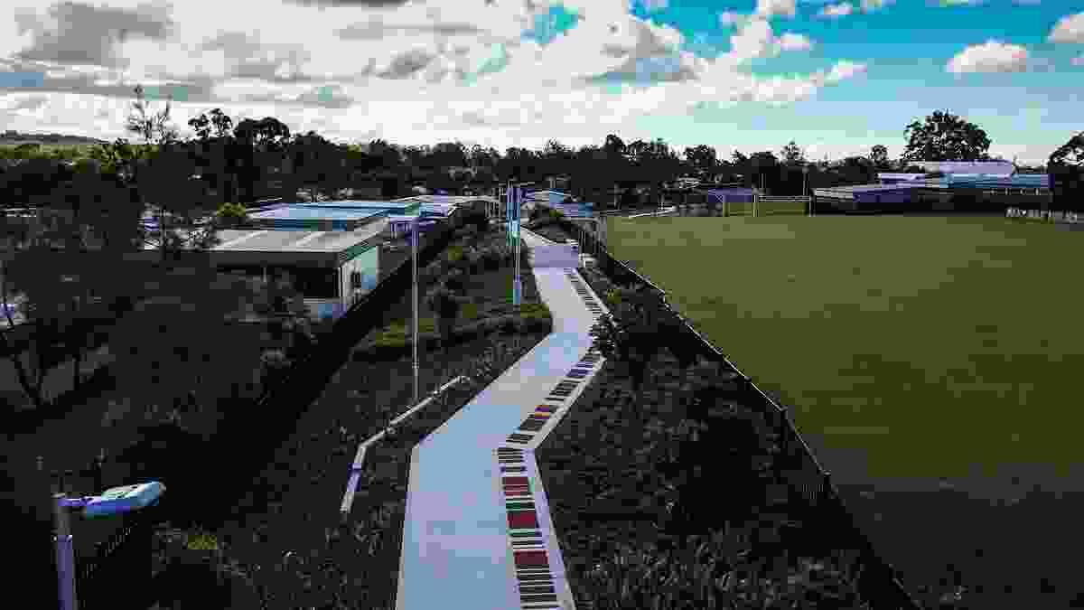 Wembley Link Pathway Public Art by Logan City Council.