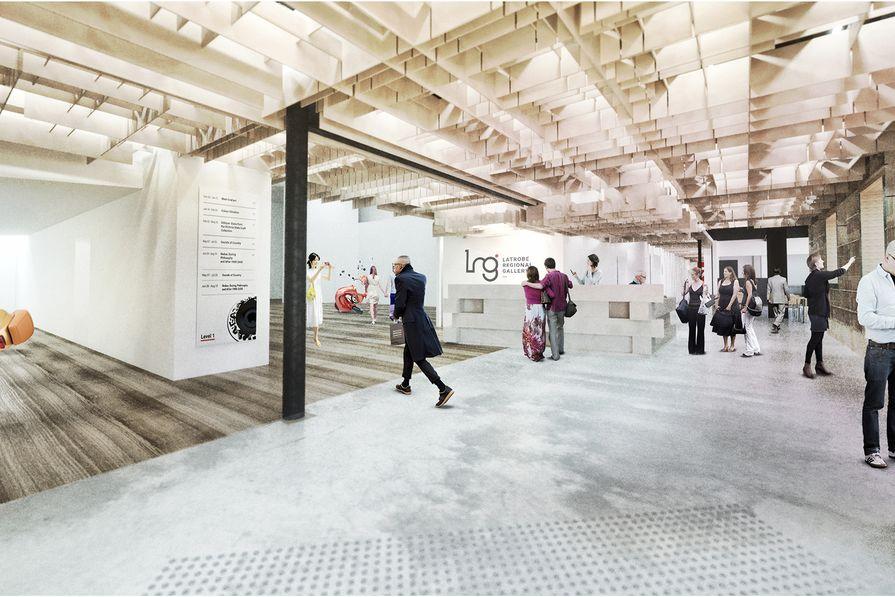 The proposed refurbishment of Latrobe Regional Gallery by NAAU Studio.