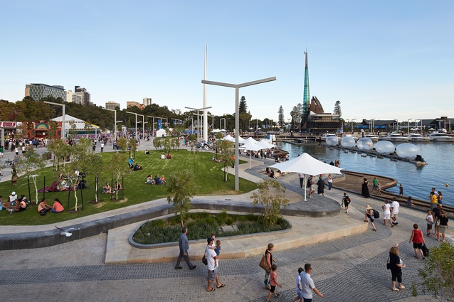 ARM Architecture and TCL have produced a vibrant hard and soft landscape at Elizabeth Quay in Perth.
