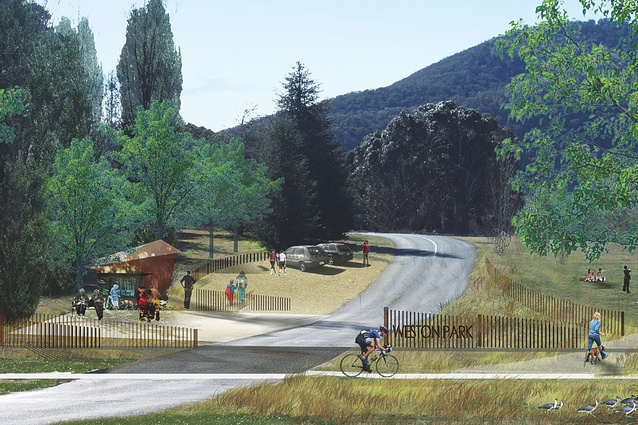 Weston Park: The layout has an agricultural sensibility, and references Canberra's original grid layout.