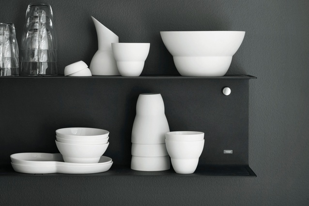 A collection of VIPP ceramics.