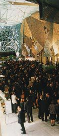 The Atrium on the opening night for the NGV.