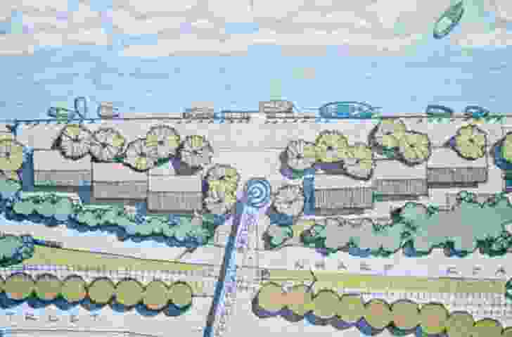 A sceme for Newcastle's foreshore by Tract Consultants.