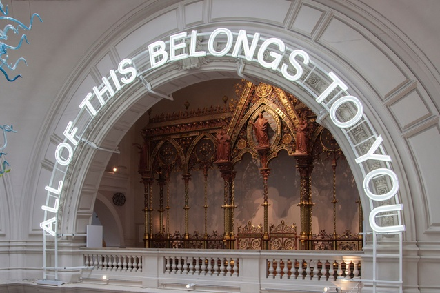 <i>All of this belongs to you</i>, Victoria and Albert Museum, co-curated by Corinna Gardner, Rory Hyde and Kieran Long.