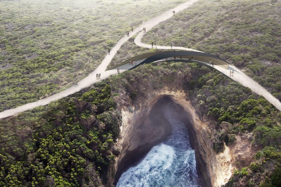 The proposed lookout at Loch Ard Gorge.
