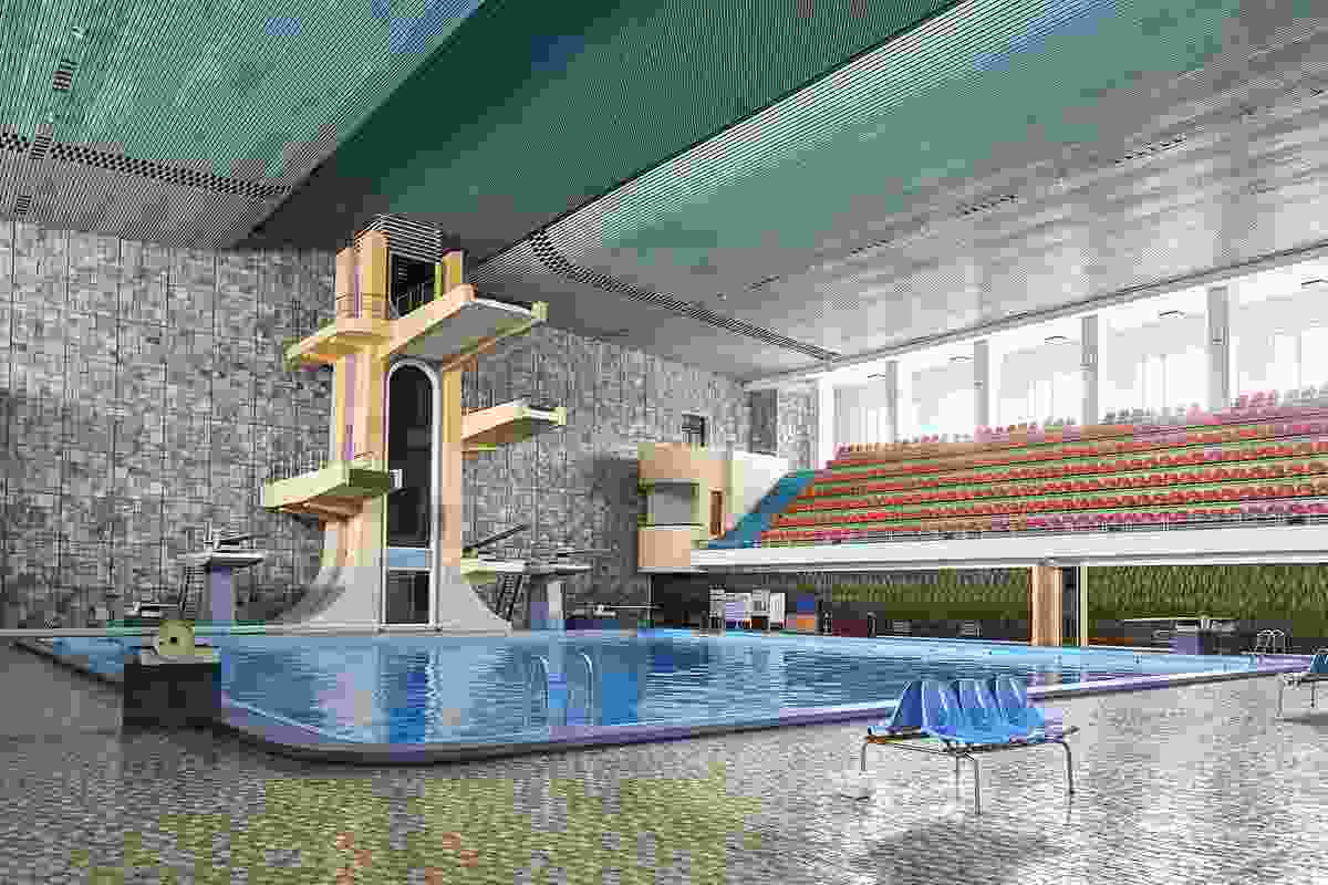 Changgwang Health and Recreation Complex Diving Board.