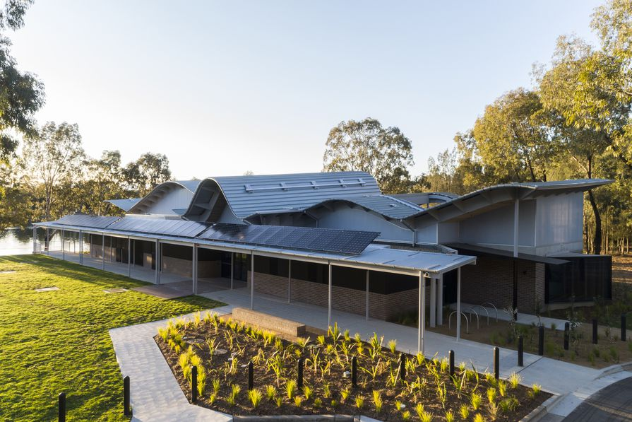 Woodcroft Neighbourhood Centre by Carter Williamson Architects.
