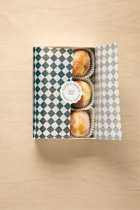 Baker D. Chirico packaging by Fabio Ongarato Design evokes a refined old-world European elegance.
