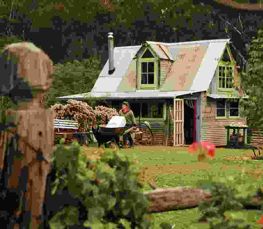 Allison Clouston and Boyd Farm, Mittagong. This house was built of almost all recycled materials, including iron and timber.