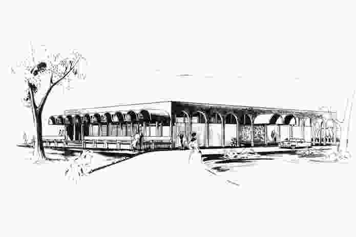 Raymond Jones's unrealized design for the University of Western Australia Staff Club.