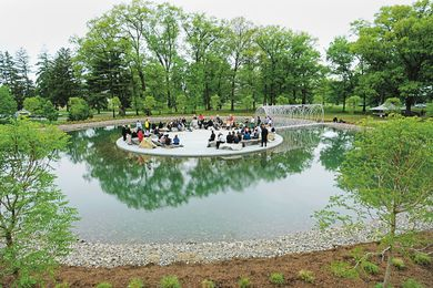 Studio Olafur Eliasson's The parliament of reality (2009) at the Bard College in Annandale-on-Hudson, New York was conceived as a place to welcome all things.