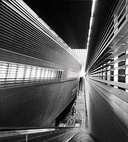 Stadium Mass Rapid Transit Station, designed 2000.Image: Patrick Bingham-Hall