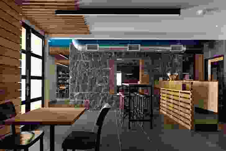Bluestone anchors the casual cafe space, The Nook.