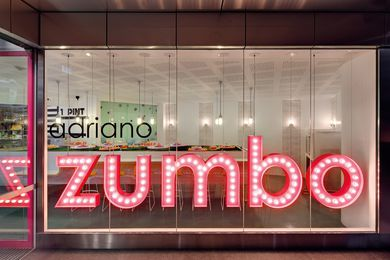 Sweet enticement: the neon sign of Zumbo's Star City cafe.