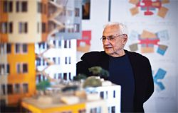 Frank Gehry at UTS for the announcement that the Gehry Partners's design for the Faculty of Business building has been accepted by UTS Council. Photograph Chris Bennett.