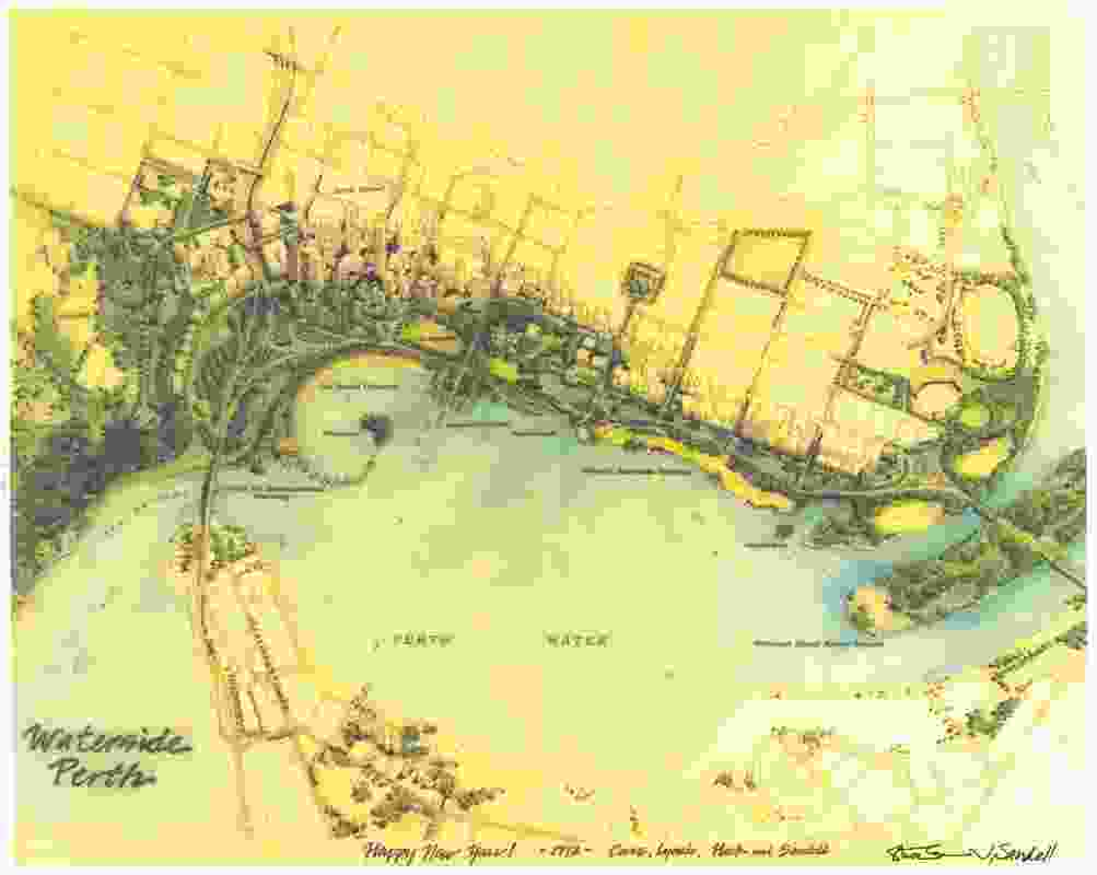 Waterside Perth, the winning scheme of the 1991 Perth Foreshore International