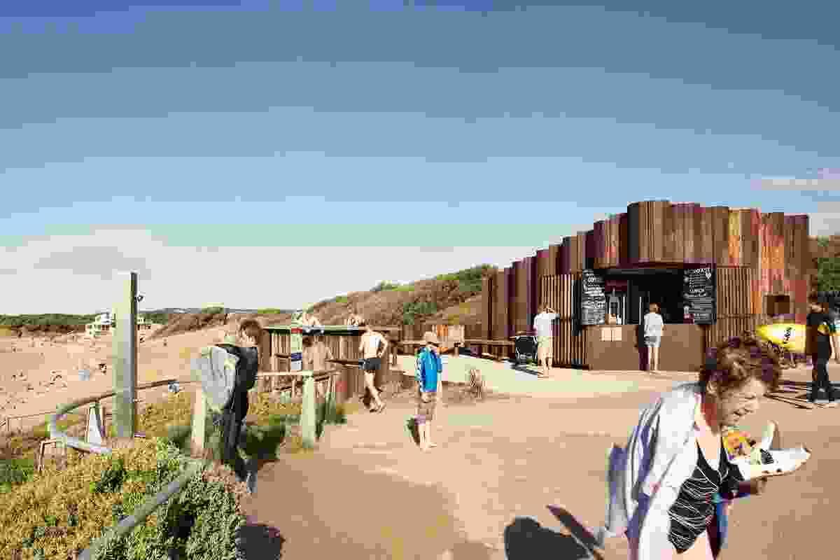 A recreational hub for beach goers.