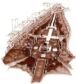 Rush\Wright's masterplan for the Shrine Reserve.