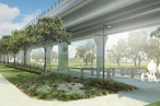 Linear park to fill in space under new Melbourne 'sky rail'