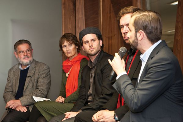 AA Roundtable (May 2012) delegates (from left): Hal Guida, Catherine Townsend, Stuart Candy, Ben Hewitt, Timothy Moore.