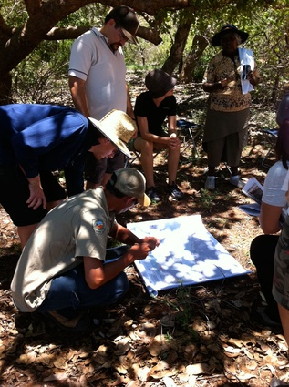 Yawuru elders and rangers working on planning strategies with the Western Australia Department of Environment and Conservation.