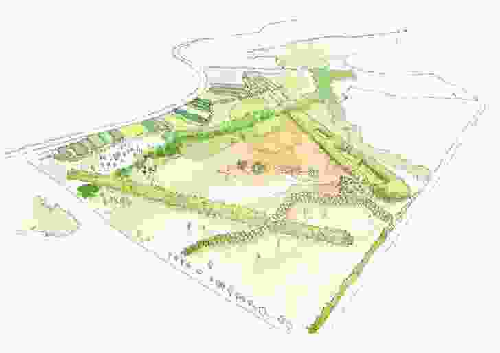 Concept plan of Bungarribee parklands.