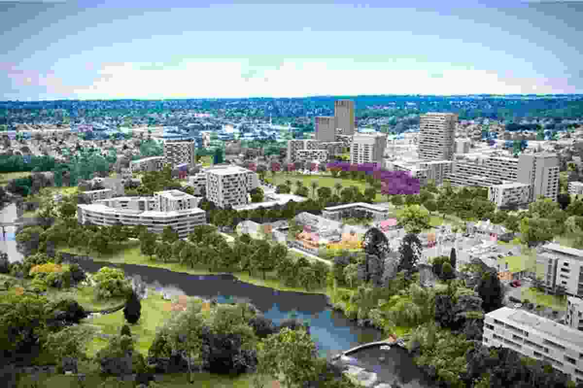 The proposed redevelopment of the heritage precinct.