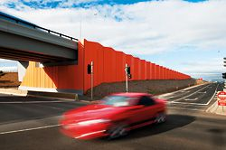 N°8 Concrete retaining walls provide flashes of colour, highlighting the location of bridges along the route.