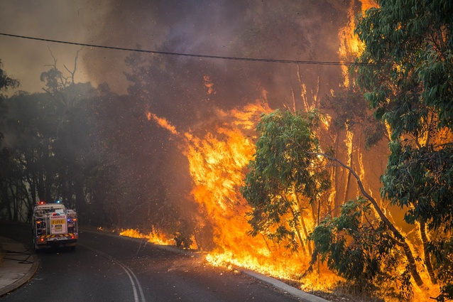Implementing Bushfire and Biodiversity Controls (WA) by Shire of Mundaring Planning and Environment Team. Pictured here is the Mt Helena bushfire 2015.