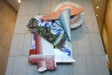 Cones and Pillars part three by Frank Stella.