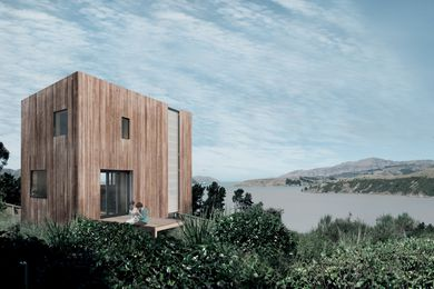 An artist's impression of the Warrander Studio - New Zealand's first building to use a digitally prefabricated cassette panel cladding system.