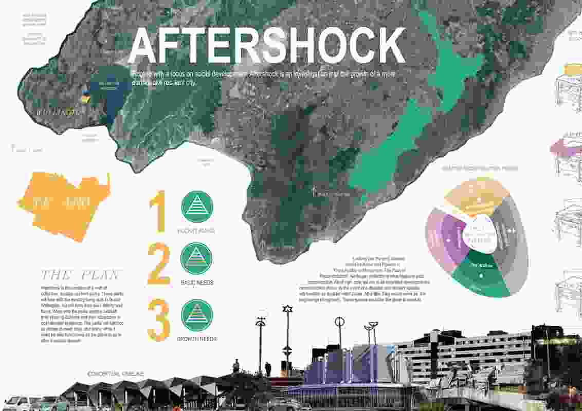 """Aftershock"" by a team of students from Victoria University Wellington, including Alex Prujean, Katie Nguyen and Michael Cook."