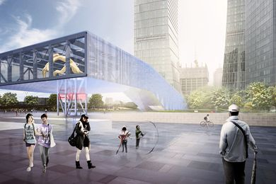 Lujiazui Exhibition Centre by OMA.