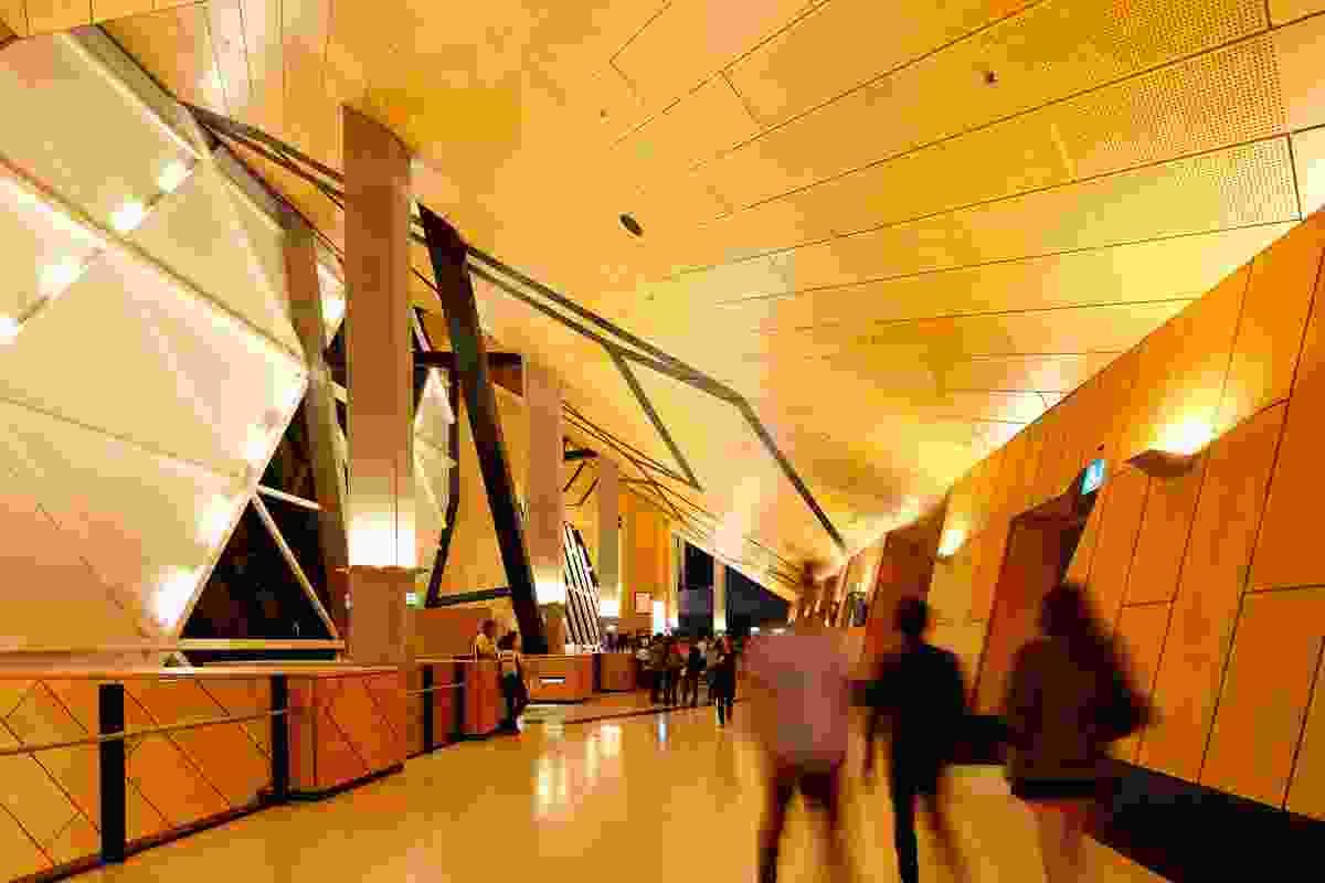 Upper level concourse.