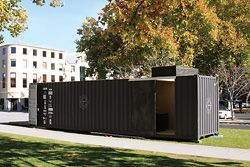 MODV 2.0 was mounted on the lawn at Salamanca Place, Hobart.